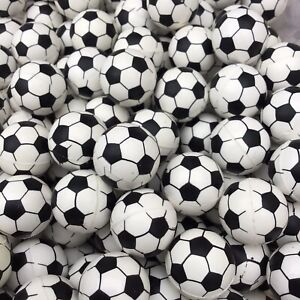 12 Soccer Rubber Bouncy Super Balls, Fun Gift, Party Favors ~1in (27mm)