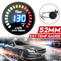 2'' 52mm Car Exhaust Gas Temp Gauge LED Pointer EGT Temperature Meter W/ Sensor