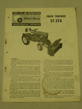 1963 WHEEL HORSE TRACTOR ST-374 SNOW THROWER PARTS LIST MANUAL