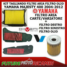KIT TAGLIANDO FILTRI ARIA OLIO YAMAHA MAJESTY 400 2011 2012 AIR OIL FILTER