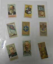 LOT of 13 Victorian Post Cards & Cigarette Cards VG+ Birds Coat of Arms ++++