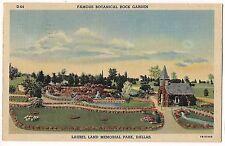 BOTANICAL ROCK GARDEN Laurel Land Memorial Park Dallas TEXAS TX POSTCARD