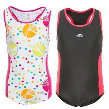 Trespass Wakely Girls Swimwear Swimming Costume Beach One Piece