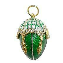 Russian Egg Faberge  Pendant ROYAL CANOPY Silver and Swarovski Crystals