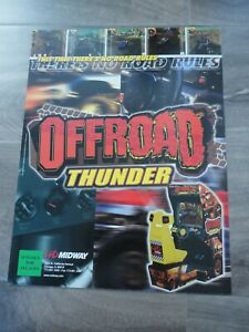 Offroad Thunder Midway Video Arcade Flyer