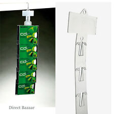 100 x Fast Load Merchandising Strip with Header, 12 Clip Strips / Length: 61cm