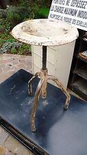 Meuble Métier Vintage Tabouret métal vis sans fin Atelier Usine Industriel 1930