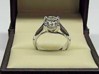 Certified 2.50 Ct  Round Diamond Engagement Ring 14k White Gold