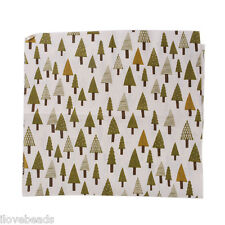 1pc Christmas Tree Linen Cotton Fibre Cloth Patchwork DIY Sewing Fabric 97x50cm