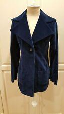 Vtg Neiman Marcus Cool Mod '60s-70s Rich Blue Velvet Pants Suit Sz Xxs-Xs