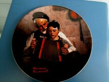 """'81 Knowles Norman Rockwell """"The Music Maker """" ltd edit.plate, Accordion!"""