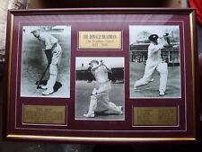 Sir Don Bradman (Australian Cricket Legend) hand signed Photo Collage - Framed