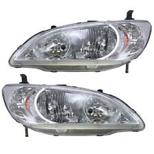 2004 2005 HONDA CIVIC SEDAN / COUPE / HYBRID HEADLIGHT LAMP PAIR LEFT AND RIGHT