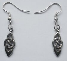 Earrings #2344 Pewter CELTIC KNOT DROP (20mm x 8mm)