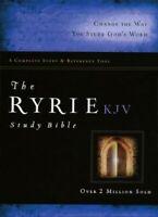 KJV Ryrie Study Bible Black Bonded Leather Red Letter