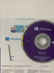 WIINDOWS 10  full install  w/ 64 bit dvd with product key