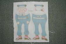 """Palmer Cox Brownie Fabric for doll, 8"""" X 8"""" -- NEW -- """"Sailor"""" 100% Cotton"""