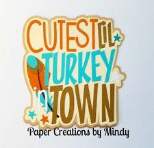 CRAFTECAFE MINDY THANKSGIVING BABY DIECUT premade paper piecing scrapbook title