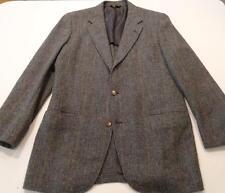 Men's Southwick Grey Plaid Tweed 3 Button Jacket 38 Long in EUC