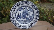 1944 Vintage Maastricht World War II Liberation Plate Petrus Regout Holland