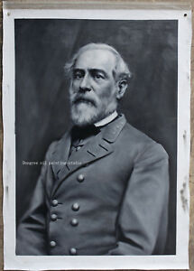 """20""""x30"""" Hand-painted Confederate General Robert E. Lee oil painting on canvas"""