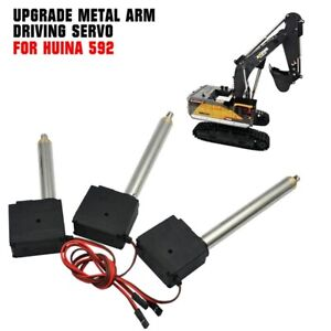 Upgrade Metall Armantrieb Servoteile Für HUINA 592 1/14 1592 RC Bagger 3Stk/Satz