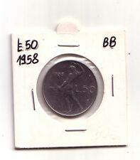Repubblica Italiana 50 lire 1958  Vulcano I° Tipo Acmonital   BB    (m878)