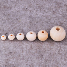6.8.10.12.14.20mm Natural Wood Round Ball Loose Spacer Bead DIY Jewelry Making