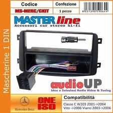 MASCHERINA AUTORADIO 1 DIN MERCEDES CLK W209 FINO AL 2004 ADATTATORE 1 DIN KIT