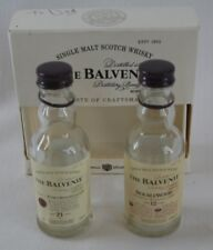 Lot of Two EMPTY Glenlivet Empty 50ml mini 15 & 18 Years Old Scotch Bottles.