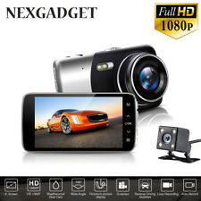 "4.0"" Dual Lens Auto Car Camera DVR Video Registrator Dash Cam HD 1080p"