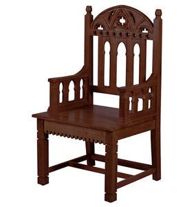 Gothic Celebrant Chair Walnut Stain