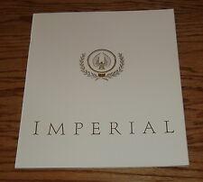 Original 1991 Chrysler Imperial Sales Brochure 91