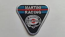 MOTOR RACING CAR SPEED FESTIVAL SEW ON / IRON ON PATCH:- MARTINI RACING TRIANGLE