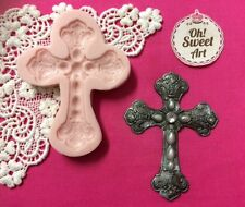 Italian Cross silicone mold fondant cake decorating food soap cupcake topper FDA