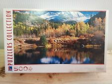 500 Piece Puzzle by Puzzlers Collection Pond and Mountains