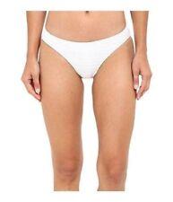 Ralph Lauren Women's Variegated Ottoman Hipster Bikini Bottom White Swims SZ 6