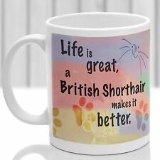 British Shorthair mug, British Shorthair cat gift, ideal present for cat lover