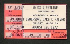 1977 Emerson Lake & Palmer concert ticket stub Denver Co Brain Salad Surgery