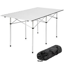 Table de camping de jardin pliable pliante en aluminium portable XXL 140x70x70cm