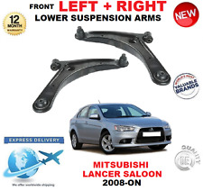 FOR MITSUBISHI LANCER 2008-> 2 X FRONT LEFT RIGHT WISHBONE SUSPENSION ARMS SET