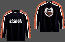 HARLEY DAVIDSON 105 TH ANNIVERSARY Colorblock KNIT L/S SHIRT (M) 96108-06VM