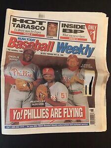 USA Today Baseball Weekly May 24-30, 1995 -Lenny Dykstra - Philadelphia Phillies