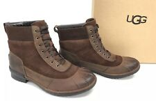 UGG Australia CAYLI Leather & Suede Duck Rain Boots 1095160 COCONUT Shell Brown