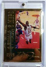 1996 96 Upper Deck 6 Finals 6 MVPs 22 Kt Gold Michael Jordan, HOF, #'d/7223