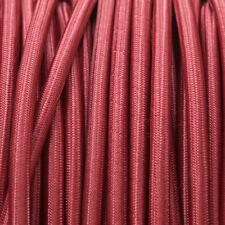 Borgogna Rotondo Intrecciato Tessuto Cavo MEX 0.5 mm (Cavo TEXTIL)