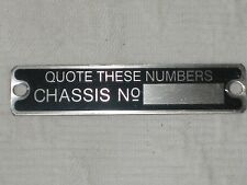 AUSTIN SEVEN CHASSIS BADGE PLATE-CHASSIS NUMBER