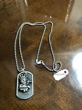 Baby Dogtag & .925 Beaded Chain King Baby Studio Sterling Silver Crown