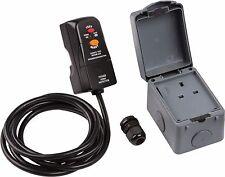 Knightsbridge 1 Gang 13 Amp Single Outdoor RCD Electrical Plug Socket Kit IP66
