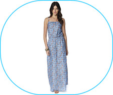 CROSS BACK BEADED MAXI DRESS FOLK PRINT ~ UK SIZE : 8 ~BY 'BE YOU ' BNWT